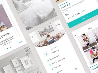 Hipture App design app design ex ui app