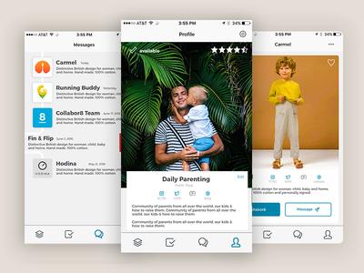 Collabor8 App Concept Redesign app design rebranding marketing influencer redesign uxui app