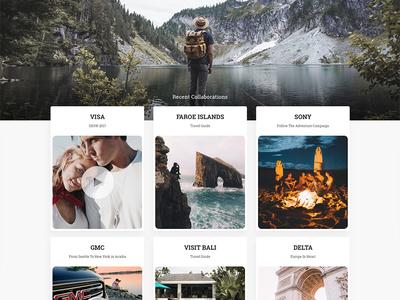 Rob Strok Website Concept influencer instagram rob strok design web site web concept landing page