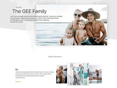 The Bucketlist Family :: Website Redesign Concept images photos traveling the bucket list family concept landing page redesign website