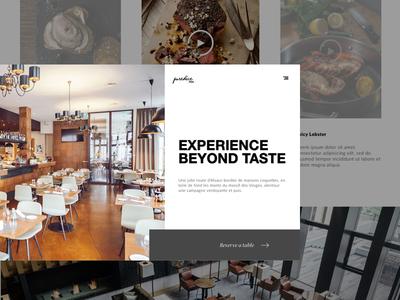 PureDice Restaurant landing restaurant food pdx portland restaurant website