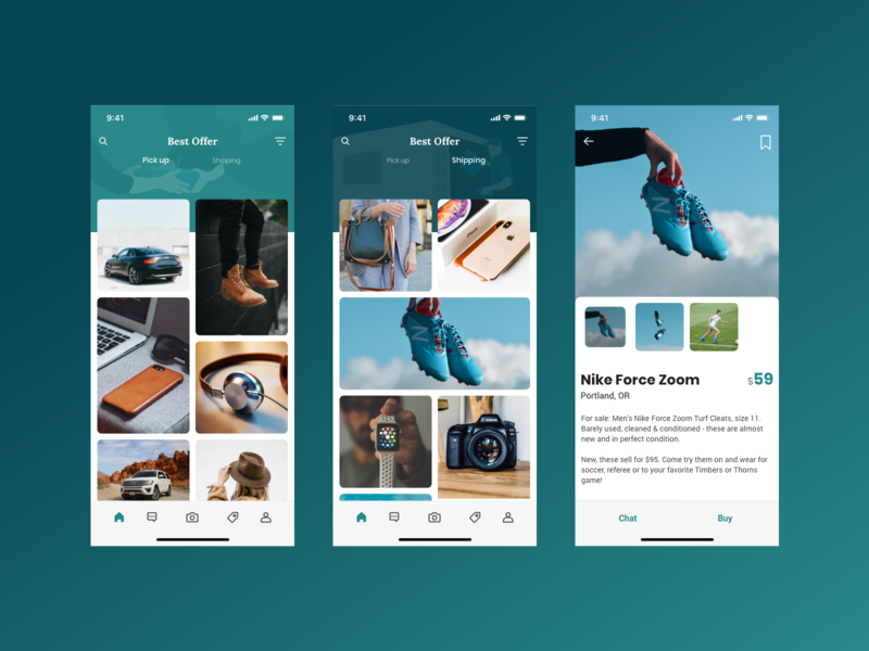 Best Offer - Local Marketplace App app letgo craignslist offerup ux ui local app design markeplace adobe xd