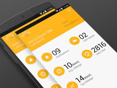 Happyride mobile app obd uiux
