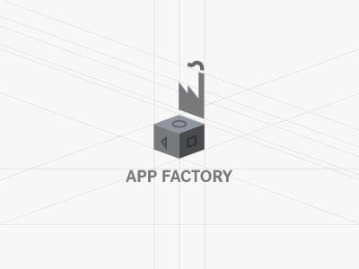 A Logo concept  app factory design factory factory app design logo identity logo