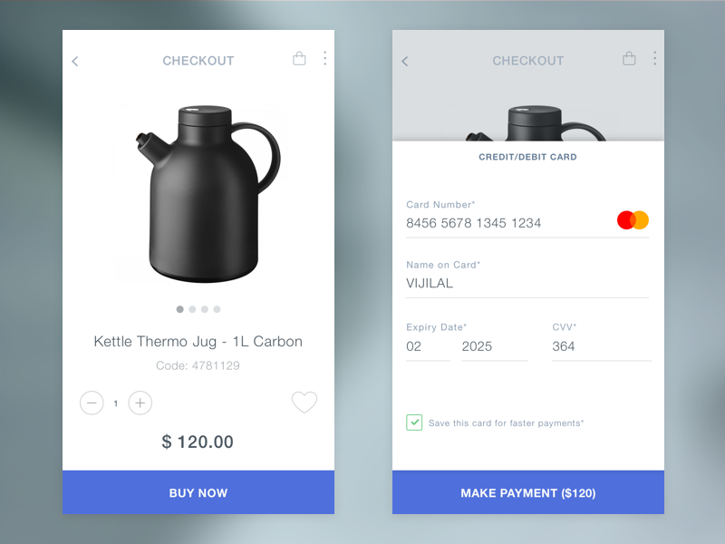 Daily UI #003 Checkout 100 days ui challenge mobile ui shopping cart payment checkout ui