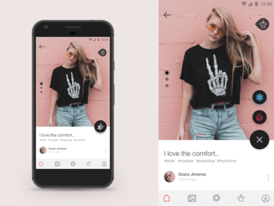 Fashion app screen