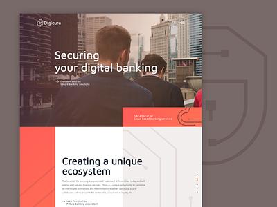 Digicure|Secure Banking typography webdesign finance banking website