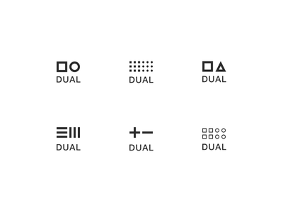 Logo concept - DUAL branding forms philosophy concept logo dualism duality dual