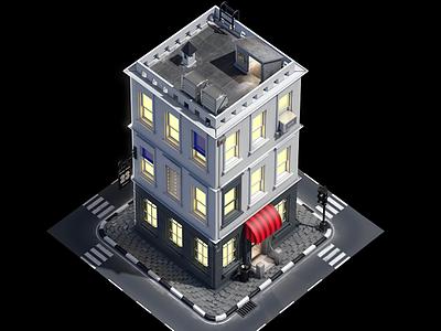 Modular House gamedev tileable farm mobile street city building design game