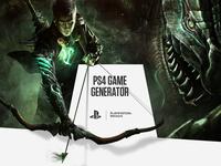 PS4 GAME GENERATOR