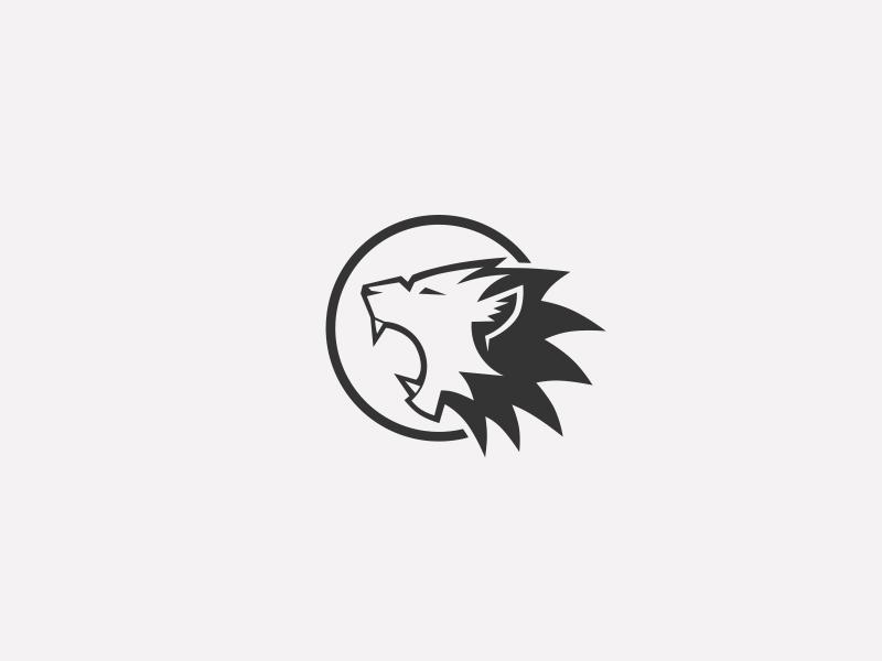 Lion Mark wolf lion logotype illustration design identity symbol mark logo