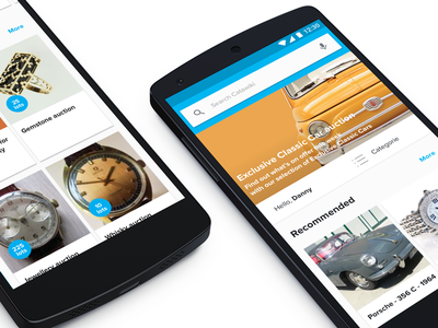 New CW home for Android android cards branding identity auctions