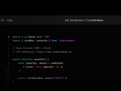 CodeSandbox development web ide code