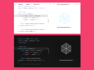 A new look for CodeSandbox Embeds