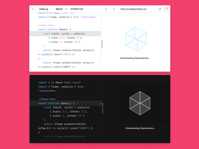 A new look for CodeSandbox Embeds ui redesign embeds