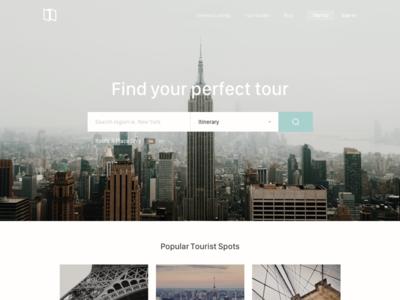 Find your tour travel web ui
