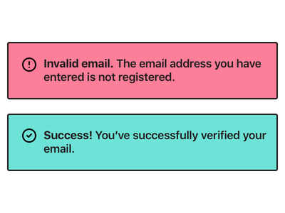 Error/Success Message (#11) message dailyui