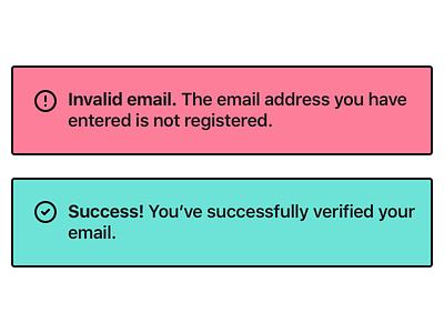 Error/Success Message (#11) message dailyui