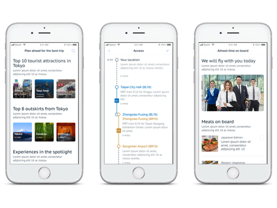 CT Airline App - Pre-Flight Experience mobile ui pre-flight app airline