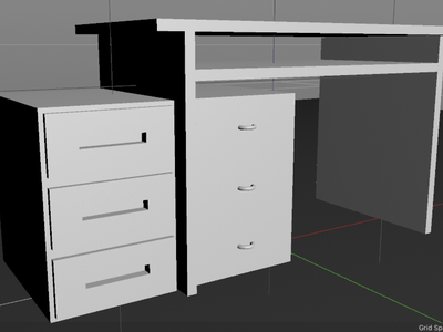 Desk (3/100) - 100 days of 3D design cinema4d 3d