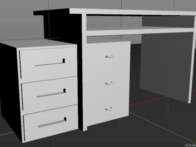 Desk (3/100) - 100 days of 3D design cinema4d 3d