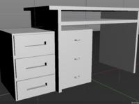 Desk (3/100) - 100 days of 3D design