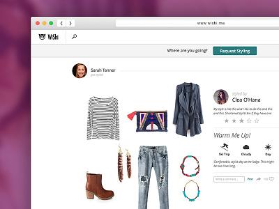 Outfit Detail styling desktop open ui ux web flat fashion user interface