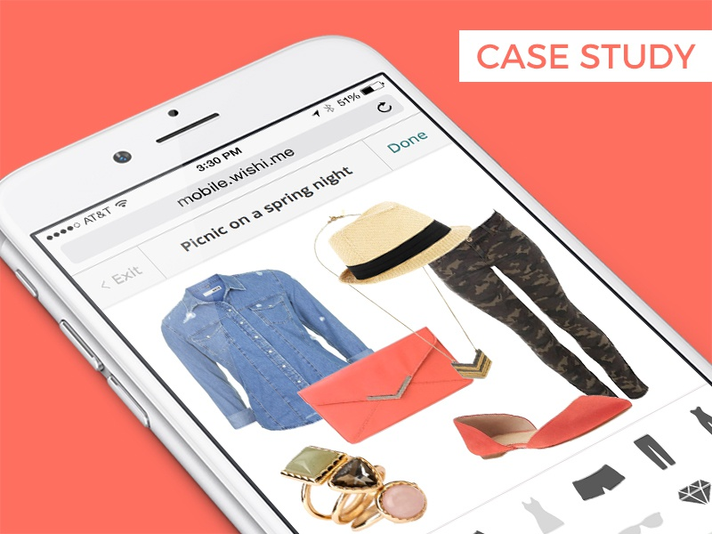 Mobile Dressing Room fashion style process user flow case study mobile web ux ui