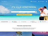 Honeymoon registry homepage attach