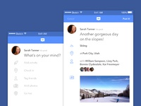 Fb post app concept interface 3x