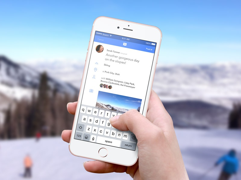 Facebook Post App Concept mobile ui status post app concept facebook