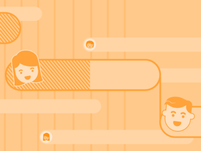 Gantt Illustration Series #4 chart timeline release launch redbooth productivity illustration gantt