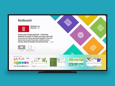 Redbooth for Apple TV  design ui download app store feature big screen tasks productivity app tv apple tv