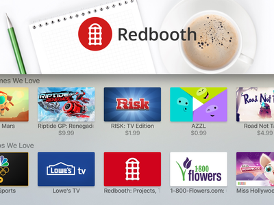 Redbooth for Apple TV  design ui download app store feature big screen tasks productivity app tv apple tv