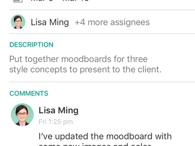 Redbooth Tasks for iOS product design app productivity tasks color ios mobile ui design