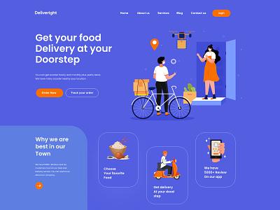 Web landing page Design landingpage landing webdesign food delivery app food app delivery food estate design web website