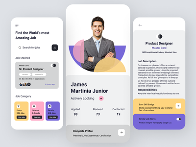 Job Finding App concept design