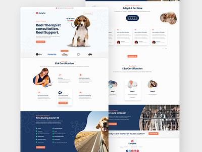 Pet Landing Page ui landingpage design website concept header landing page