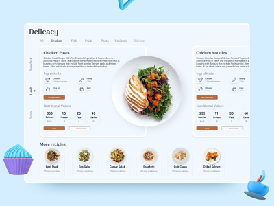 Food Dashboard Concept illustration ui design concept header