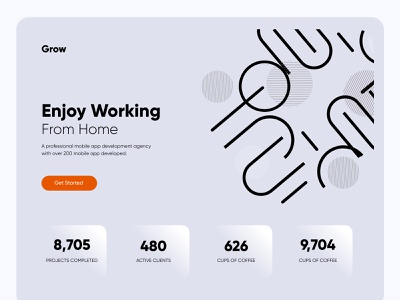 Working from home UI Design ux design concept booking system blurb minimal booking app illustration amazing app web