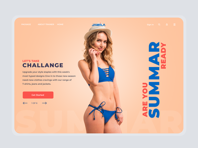Fitness Trainer Landing Page landing page ui fitness trainer website fitness landing design hader trainer fitness app landing page