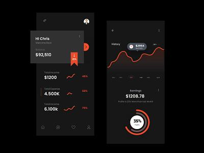 Finance mobile App Design blurb branding booking baloons illustration concept booking app amazing design minimal