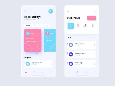 Task management Ui Design branding booking system baloons illustration amazing app booking app blurb minimal design task