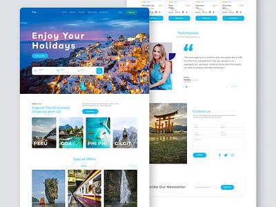 Travel Website Landing Page landing design website concept website design travel landing page travel agency traveling travel app ui landing page website travel