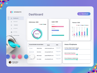 Team Management Dashboard ui ux design minimal
