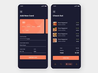 Add Card To Food App concept app ux amazing design minimal