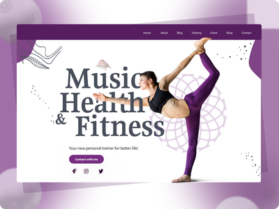 Heath Fitness Landing Page amazing ux design minimal
