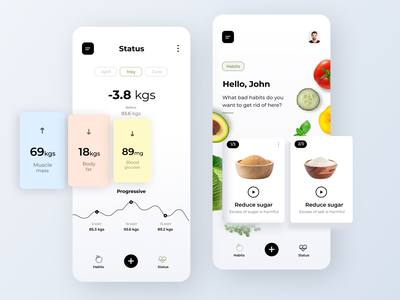 Health Tracking App concept app amazing ux design minimal