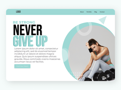 Fitness Trainer Landing Page amazing ux design minimal