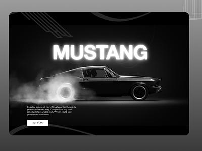 Mustang Web Concept mustangwebdesign typography branding ui concept ux amazing design minimal